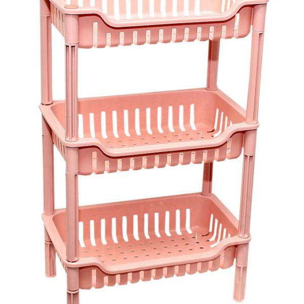 3-Tier Plastic Rectangle Storage Rack