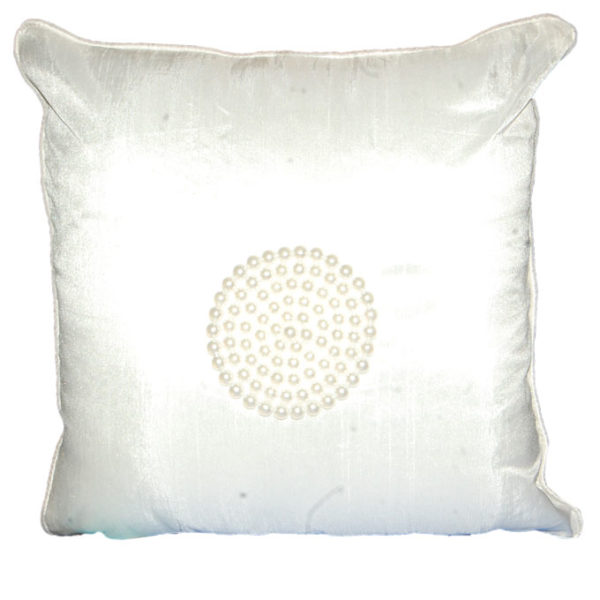 Ivory Pearl Small Cushion - White