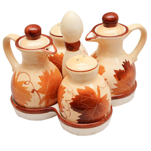 7piece Ceramic Kitchen Storage Set- Brown