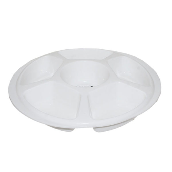 Round Compartment Tray - White