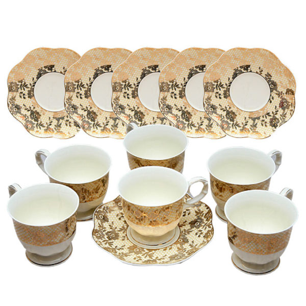 12pcs Opalina Teacup Set