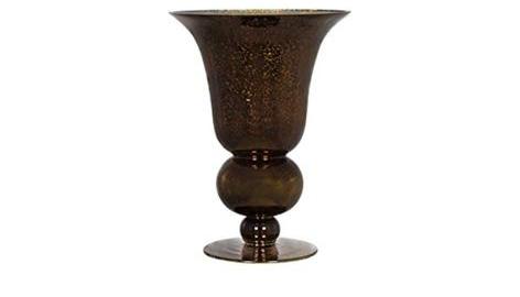 Copper Glitter Elipse Flute Vase