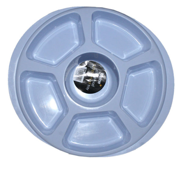 Round Compartment Tray - Blue