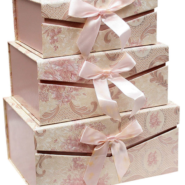 3 Piece Storage Box- Pink