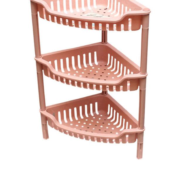 3-Tier Plastic Triangular Storage Rack