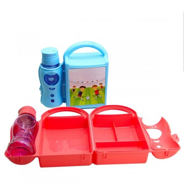 Character Sandwich/Snacks Box With Bottle