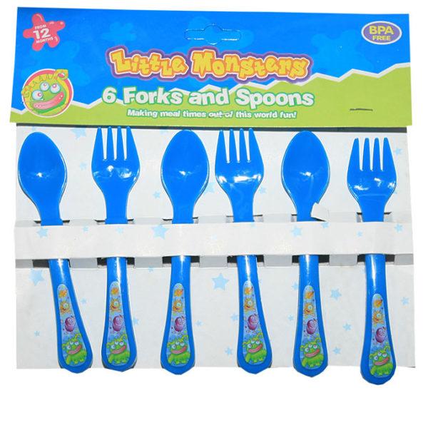 6pcs Little Masters Cutlery- Blue