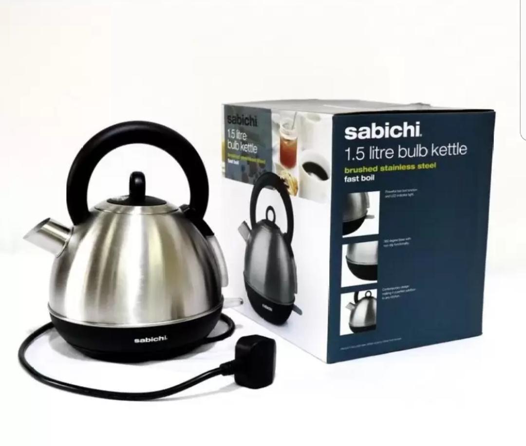 Sabichi 1.5ltr Bulb kettle