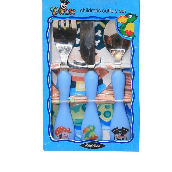 3pcs Little Masters Cutlery- Blue