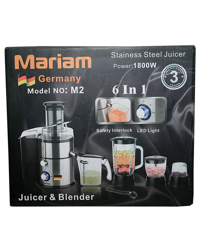 GERMANY Stainless Steel Juicer & Blender - 6 in 1