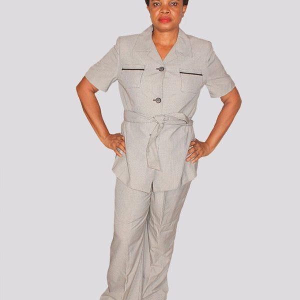 Le Suit Short Sleeve Ladies Trouser Suit