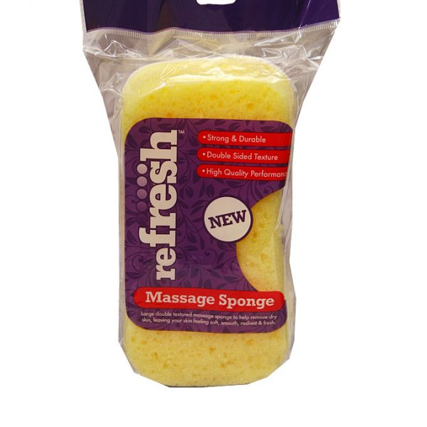 New Refresh Massage Sponge - yellow & white