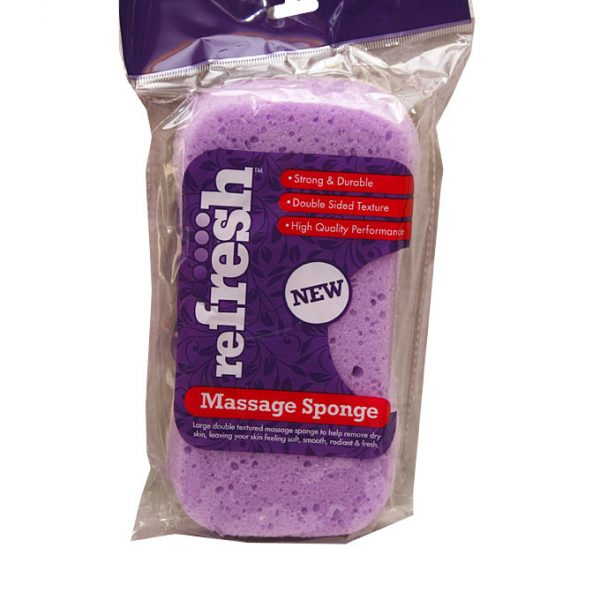 New Refresh Massage Sponge - purple & white