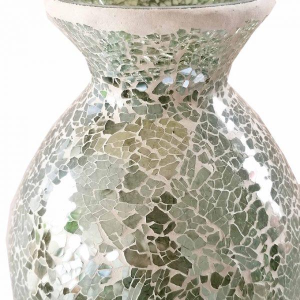 Duck Egg Mosaic Sparkle Mosaic Tall Vase