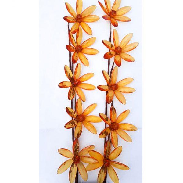 Cimc 2pcs Acrylic Long Stick Flower - Orange