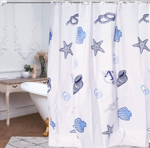 200cm*200cm Clear PEVA Shower Curtain With 15pcs Hooks - 02